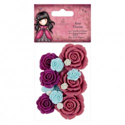 Rose Charms (20pcs) - Santoro