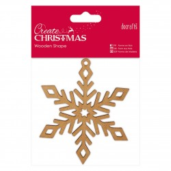Wooden Shape - Snowflake