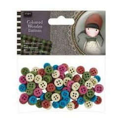 Coloured Wooden Buttons...