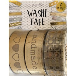 Washi Tape Gold Foil 3pz x...
